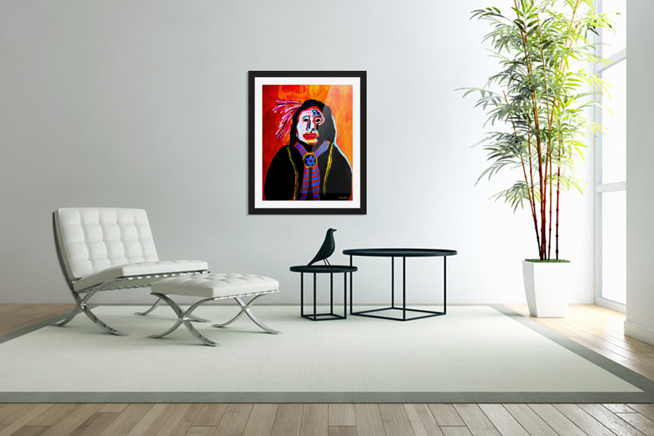 Masked Indian in Custom Picture Frame