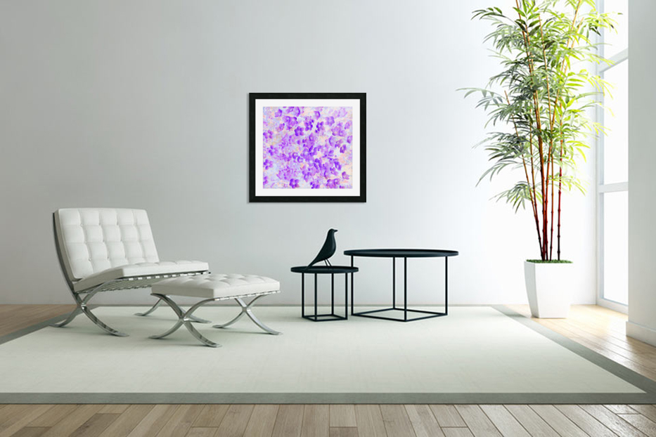 Purple Spring Flowers in Custom Picture Frame