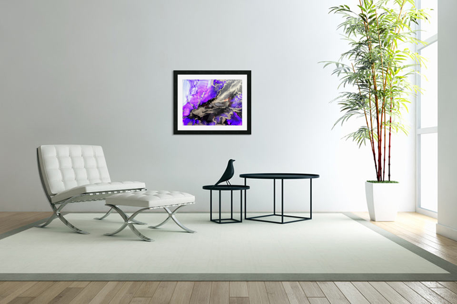 Purple Mirage II in Custom Picture Frame