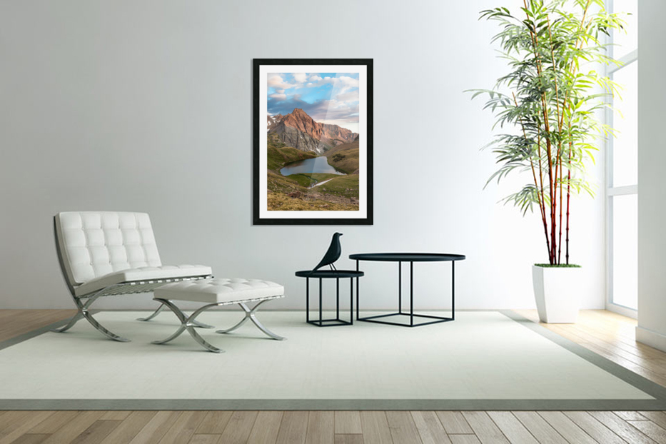 Sunrise on the Mountain in Custom Picture Frame