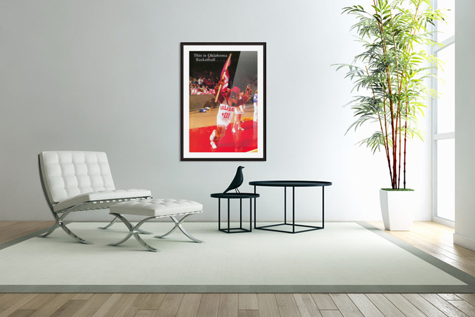 billy tubbs era top daug oklahoma sooners basketball poster prints on wood in Custom Picture Frame