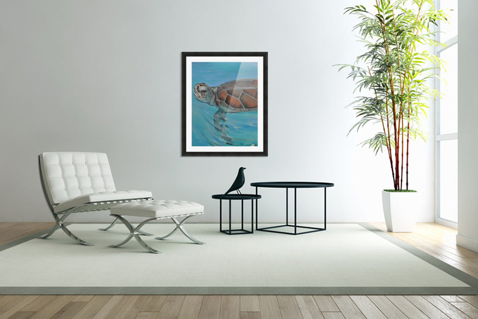 turtle in Custom Picture Frame