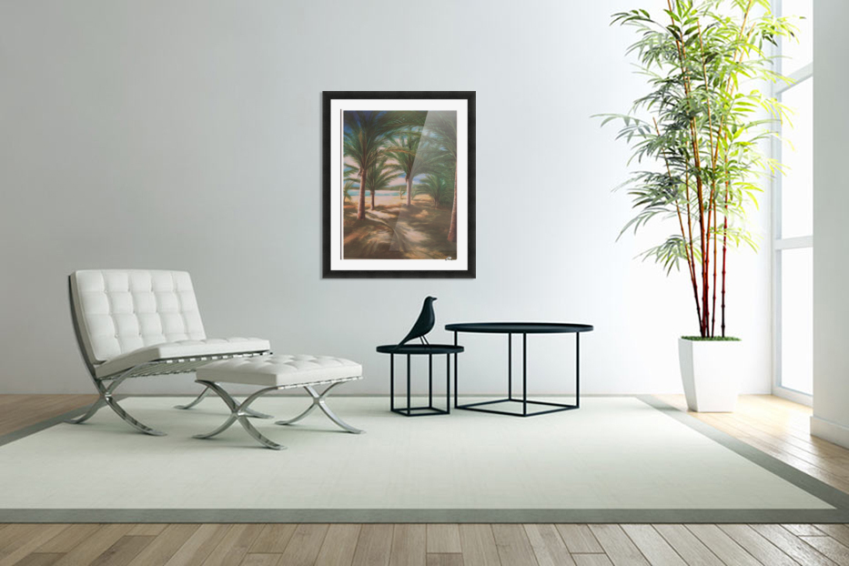 Shady beach in Custom Picture Frame