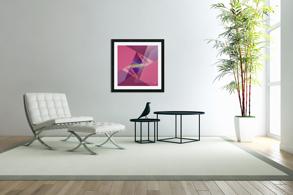 ABSTRACT ART 07 in Custom Picture Frame