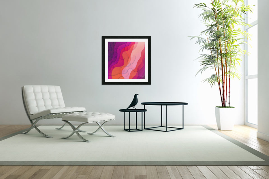ABSTRACT ART 40 in Custom Picture Frame