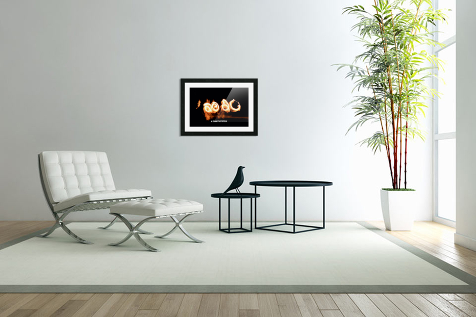 2020 Fire light painting in Custom Picture Frame