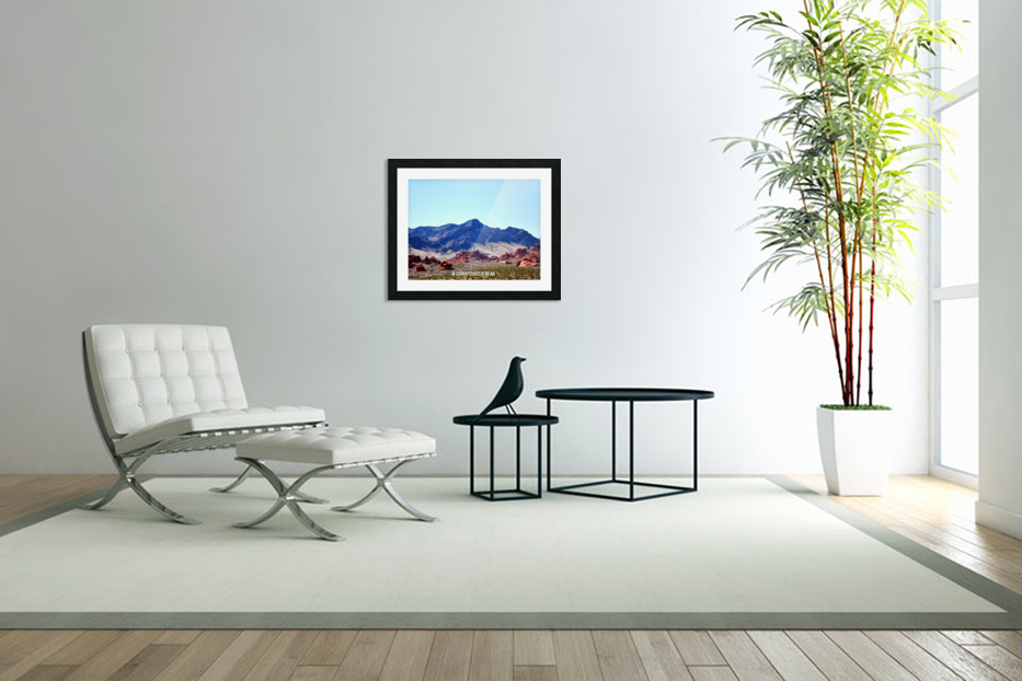 Canyon and mountain  in Custom Picture Frame