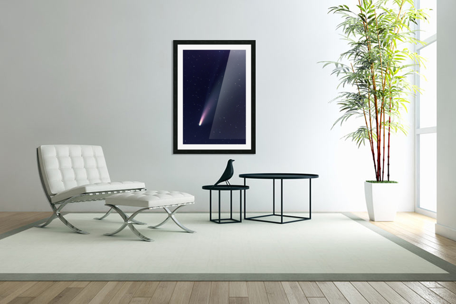 Neowise Comet 2020 in Custom Picture Frame
