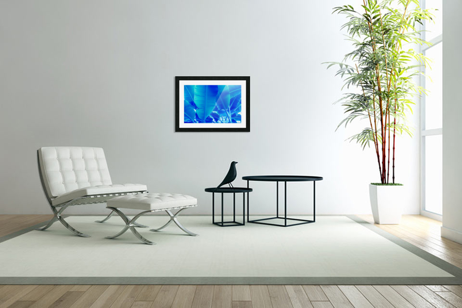 Blue Bananas - Re-Imagined Tropical Biophilia in Custom Picture Frame