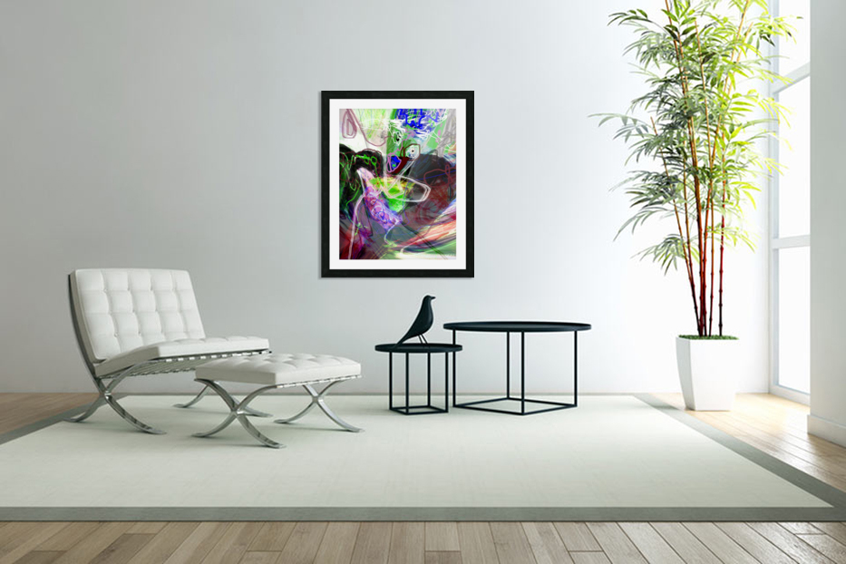 WOMAN FLYING WITH BIRD in Custom Picture Frame