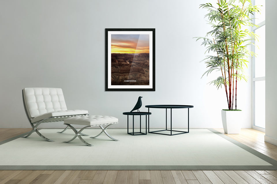 Canyon Sunset in Custom Picture Frame