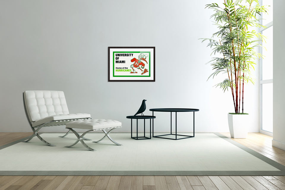 university of miami home of the hurricanes in Custom Picture Frame