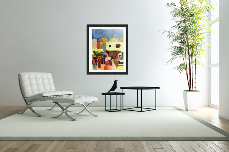Market in Algier by Macke in Custom Picture Frame