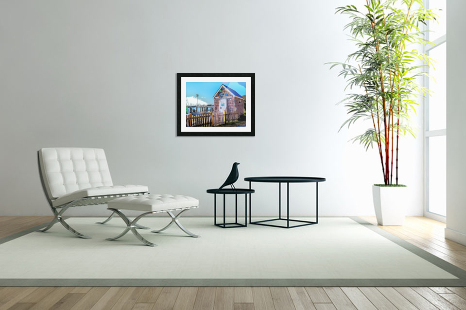 Yacht Basin boathouse in Custom Picture Frame