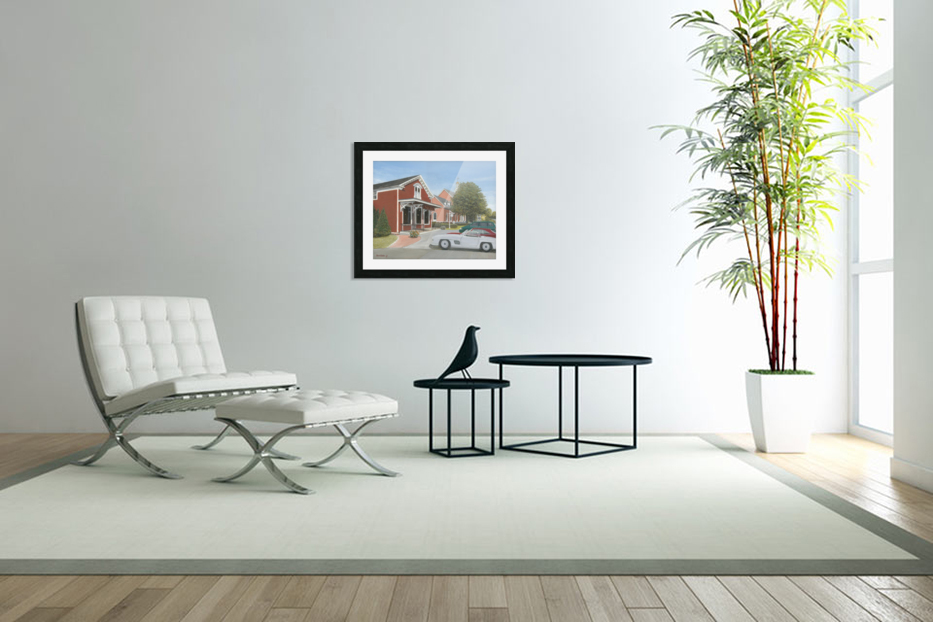 Town Hall and Store - Newtown Series 16X20  in Custom Picture Frame
