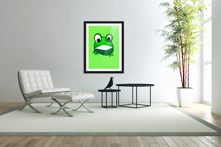 cute little frog in Custom Picture Frame