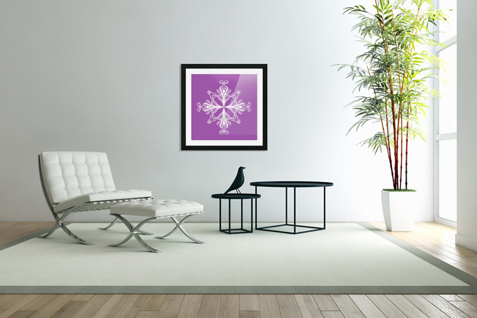 symmetrical doodle in Custom Picture Frame