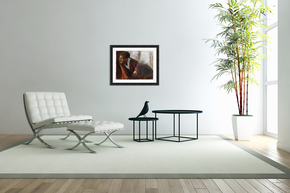 Melancholy by Degas in Custom Picture Frame