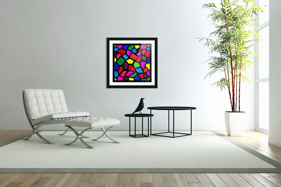 Stained Glass I in Custom Picture Frame
