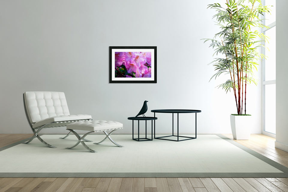 PINK FLOWER in Custom Picture Frame