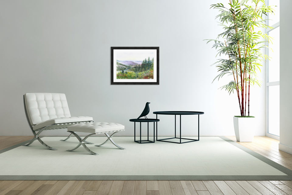 Landscape With Redwood Creek  in Custom Picture Frame