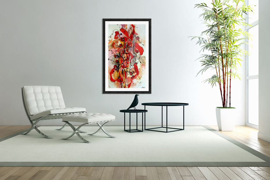 Magic red in Custom Picture Frame