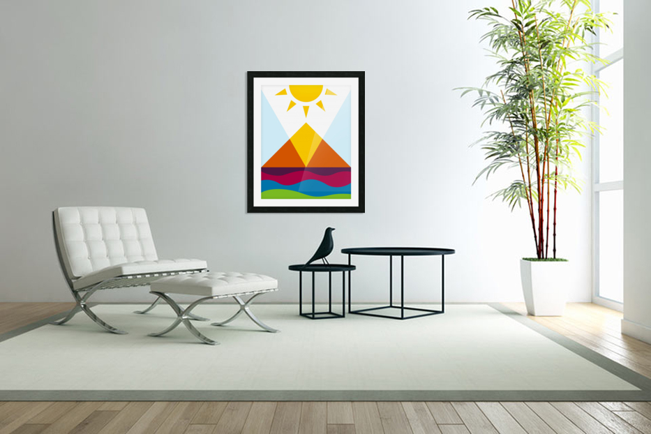 The Pyramid in Custom Picture Frame