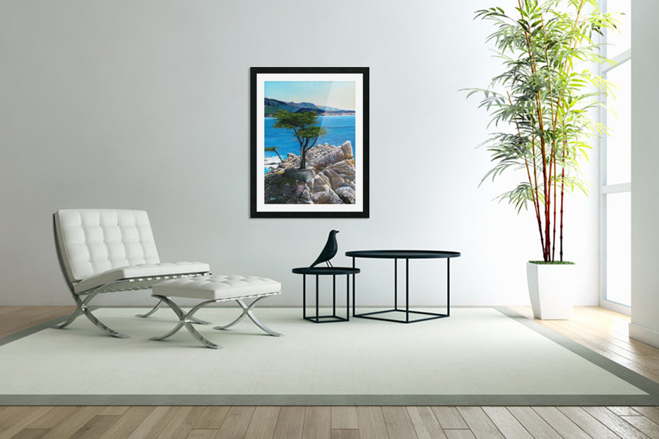 Lone Tree at Pebble Beach in Custom Picture Frame