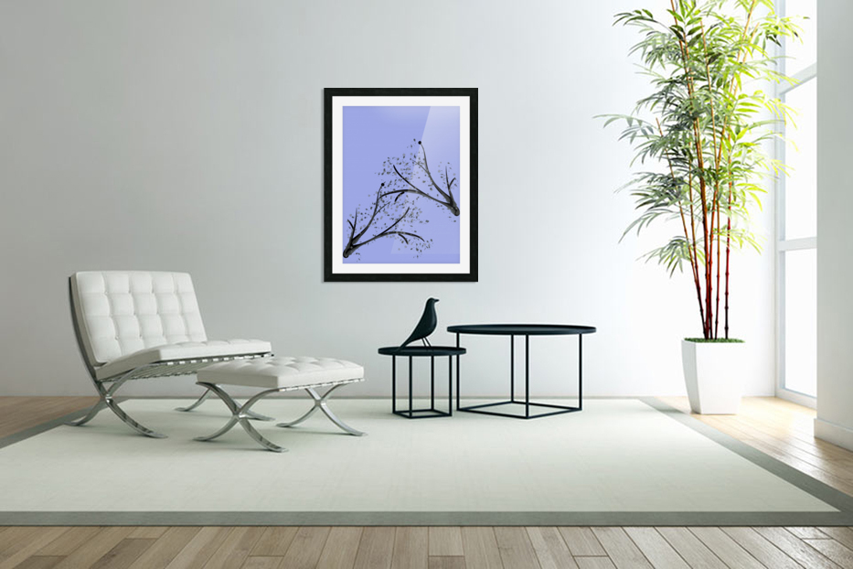 watercolor tree in Custom Picture Frame