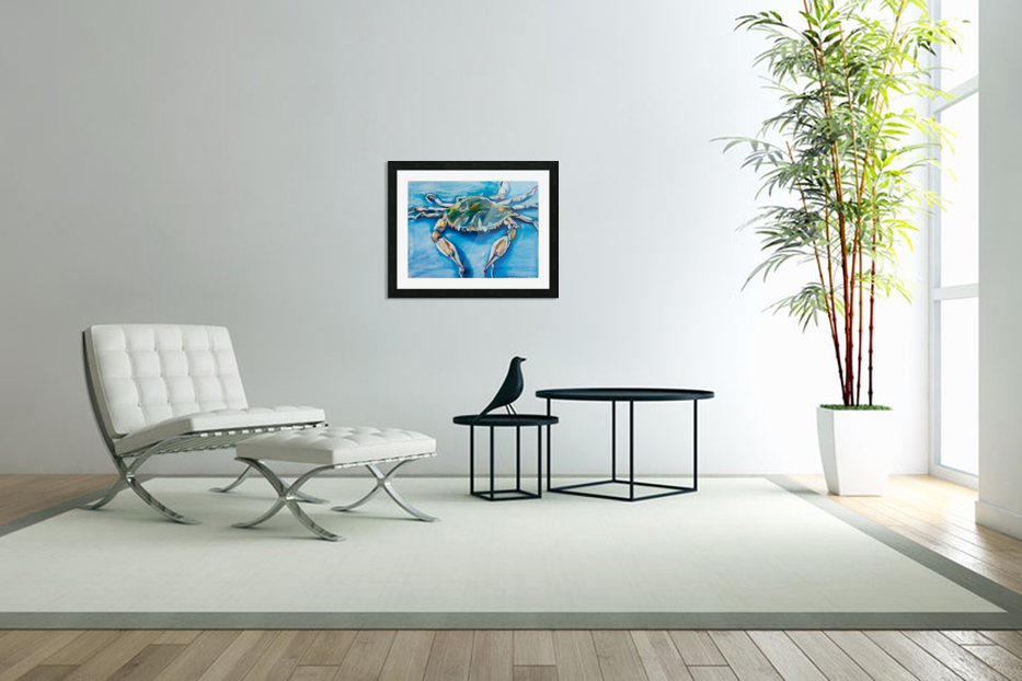 Louisiana He Soft Shell Crab in Custom Picture Frame