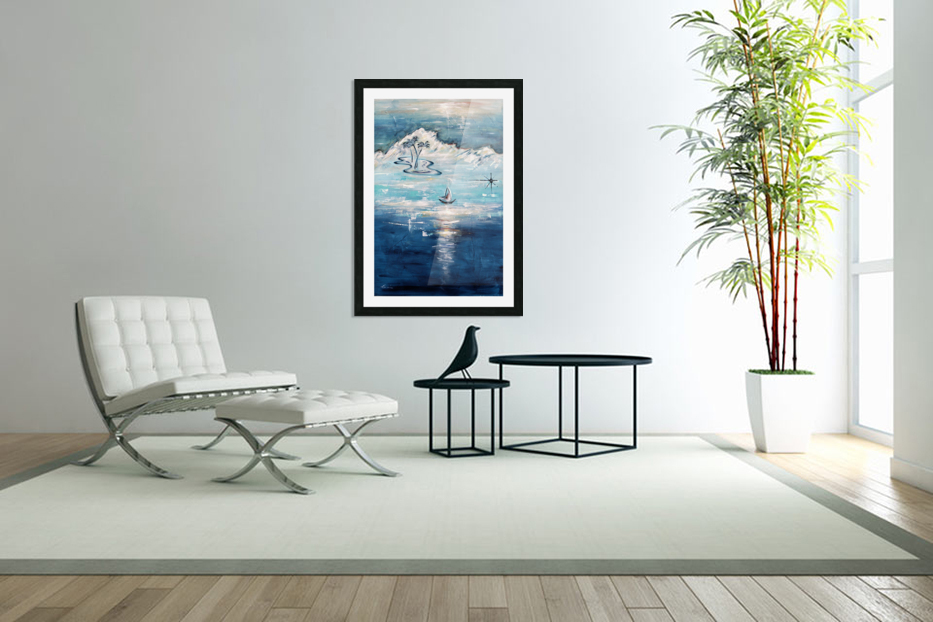 Tropical island paradise in Custom Picture Frame