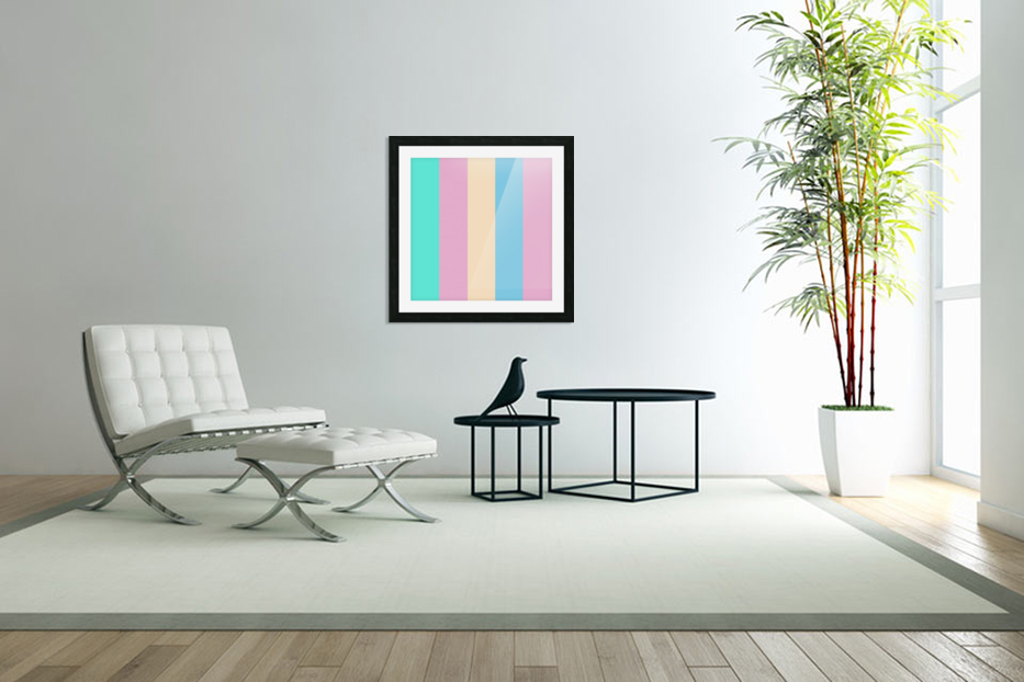 Pastel Palette in Custom Picture Frame
