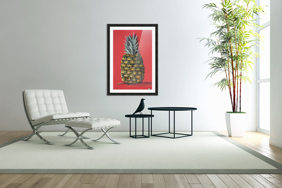 Pineapple  in Custom Picture Frame