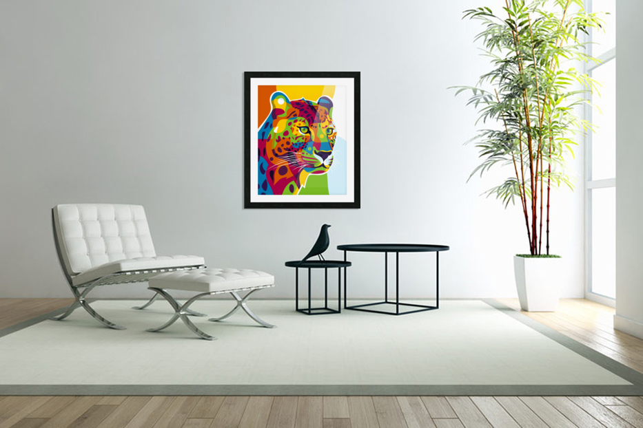 The Colorful Leopard in Custom Picture Frame