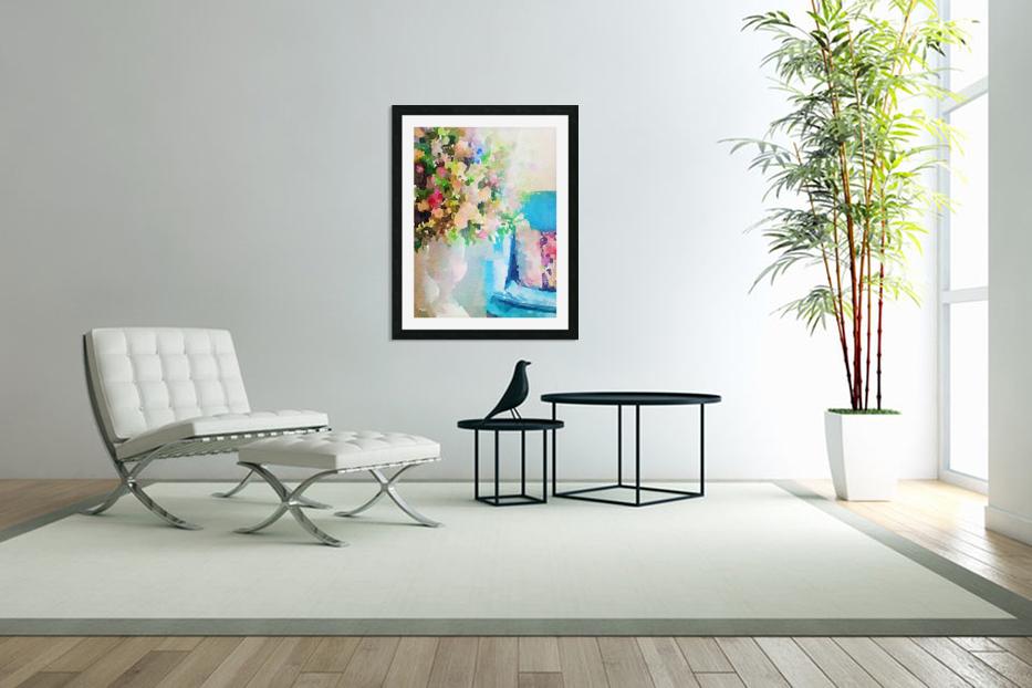 Blue chair in Custom Picture Frame