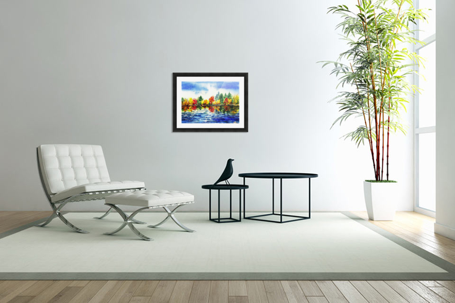 Fall Reflections in Custom Picture Frame