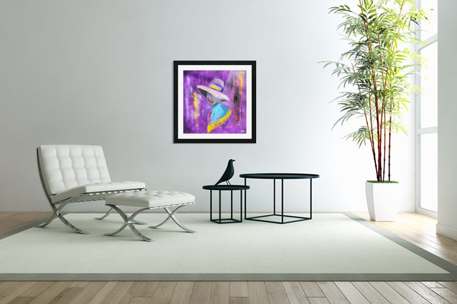 Woman in violet in Custom Picture Frame