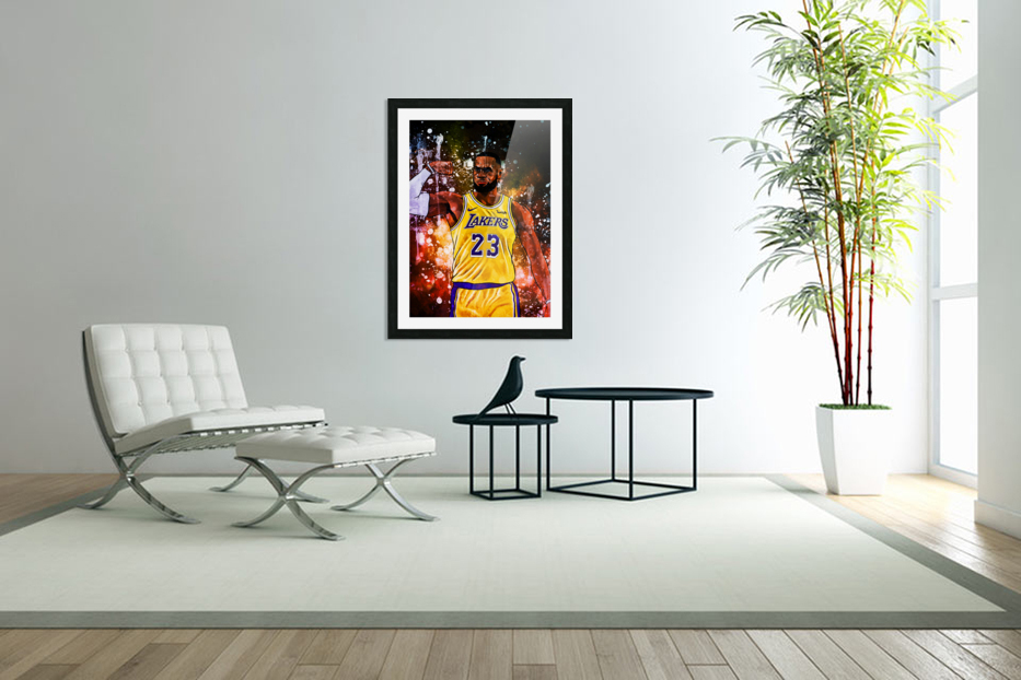 Lebron James in Custom Picture Frame