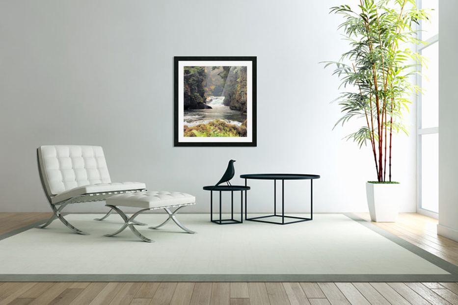 Rogue River Canyon in Custom Picture Frame