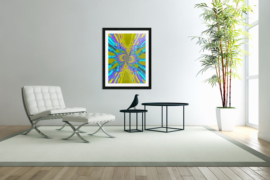A Wildflower Spinning In The Wind 6 in Custom Picture Frame