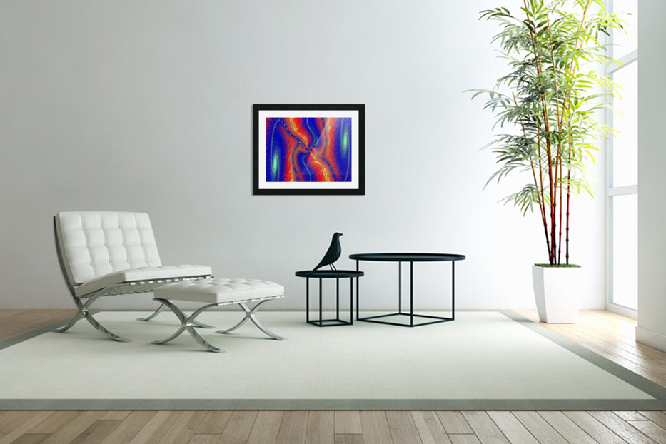 Lotus Of Movement  in Custom Picture Frame