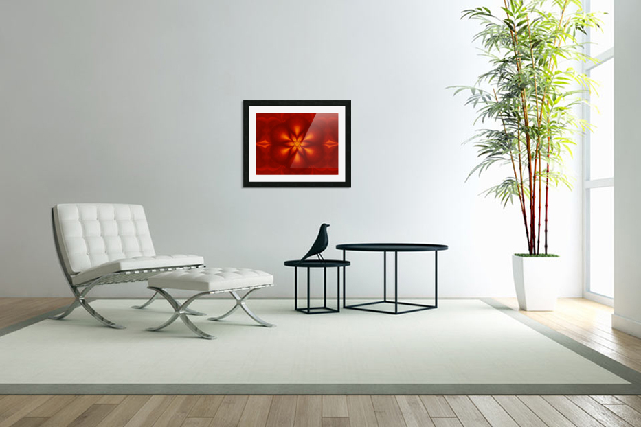 Fire Flowers 10 in Custom Picture Frame