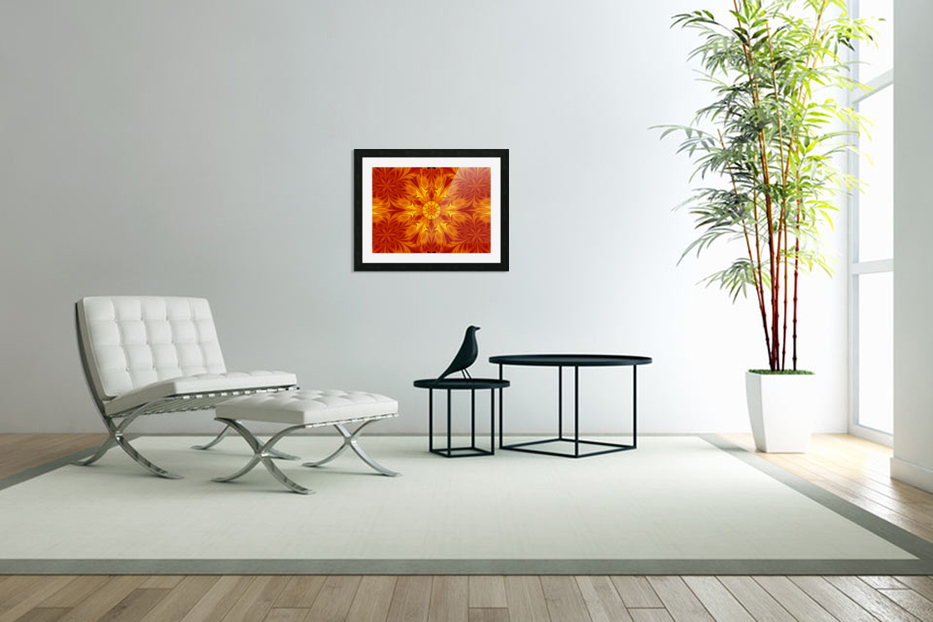 Fire Flowers 69 in Custom Picture Frame