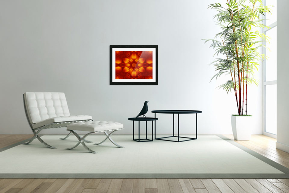Fire Flowers 74 in Custom Picture Frame