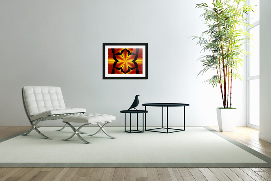 Fire Flowers 91 in Custom Picture Frame
