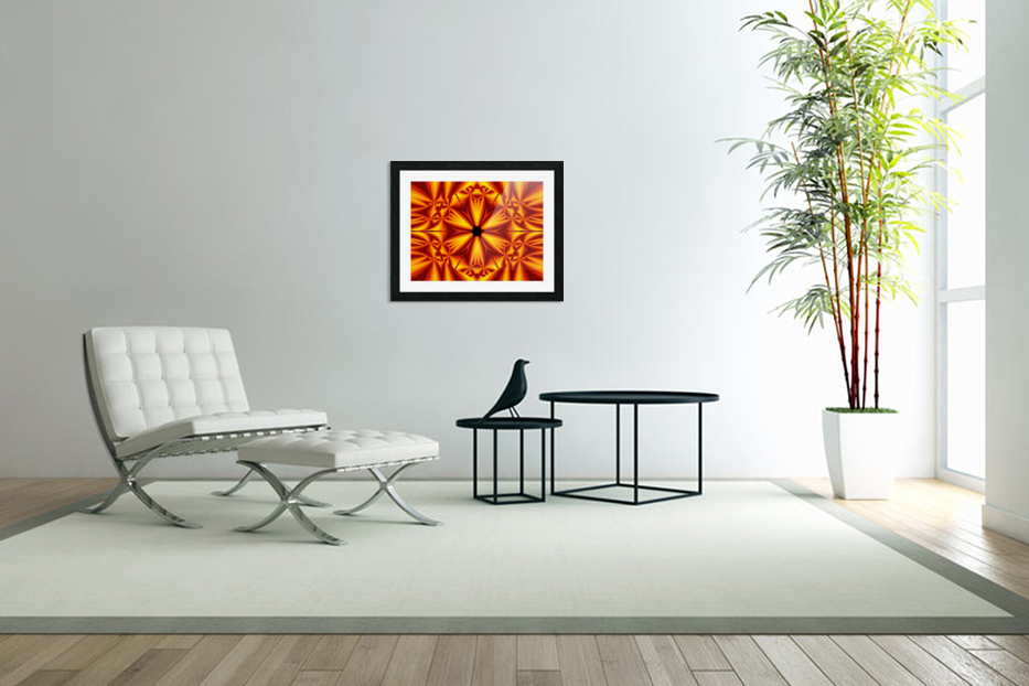 Fire Flowers 103 in Custom Picture Frame