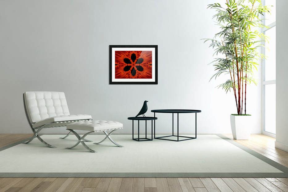 Fire Flowers 106 in Custom Picture Frame