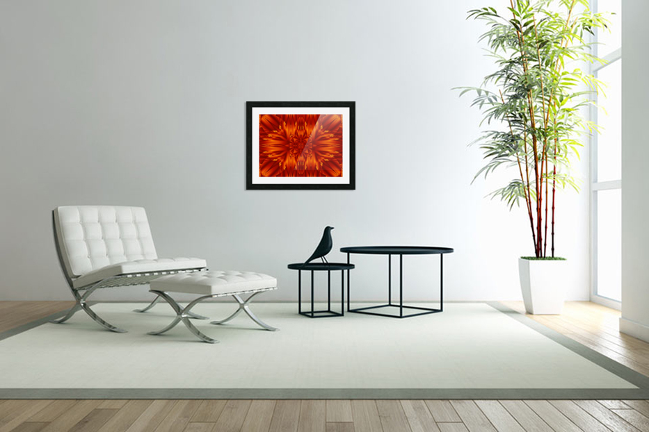 Fire Flowers 190 in Custom Picture Frame
