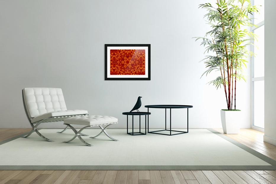 Fire Flowers 207 in Custom Picture Frame