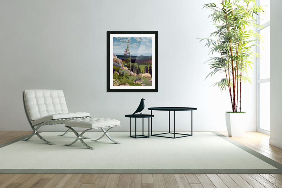 Lone Tree in Custom Picture Frame